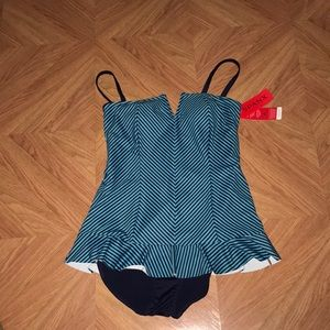 Spanx one piece bathing suite